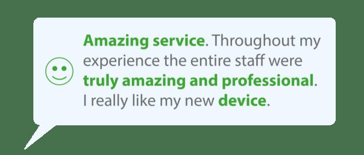 Amazing Service Feedback
